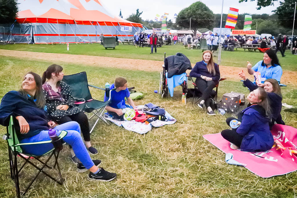 The carers and residents enjoy a day at Rewind 2016 Henley on Thames