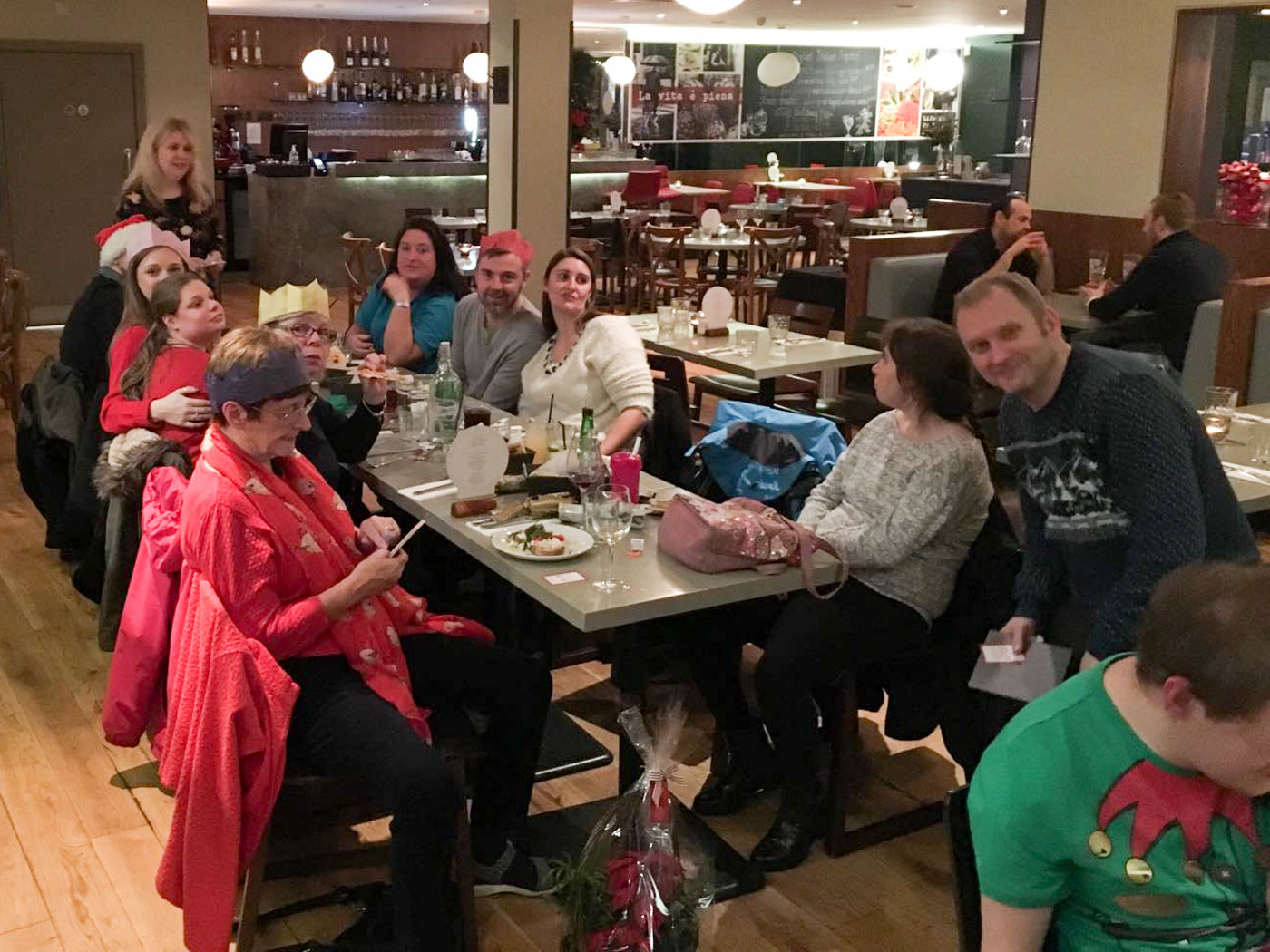 Residents, Staff and Parents celebrate operation friendships first christmas party