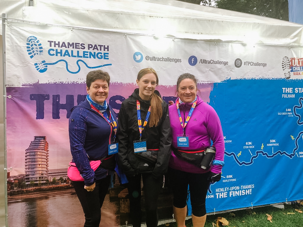 Photo from Thames Path Challenge fundraising for 3 speacial people with learning disabilities