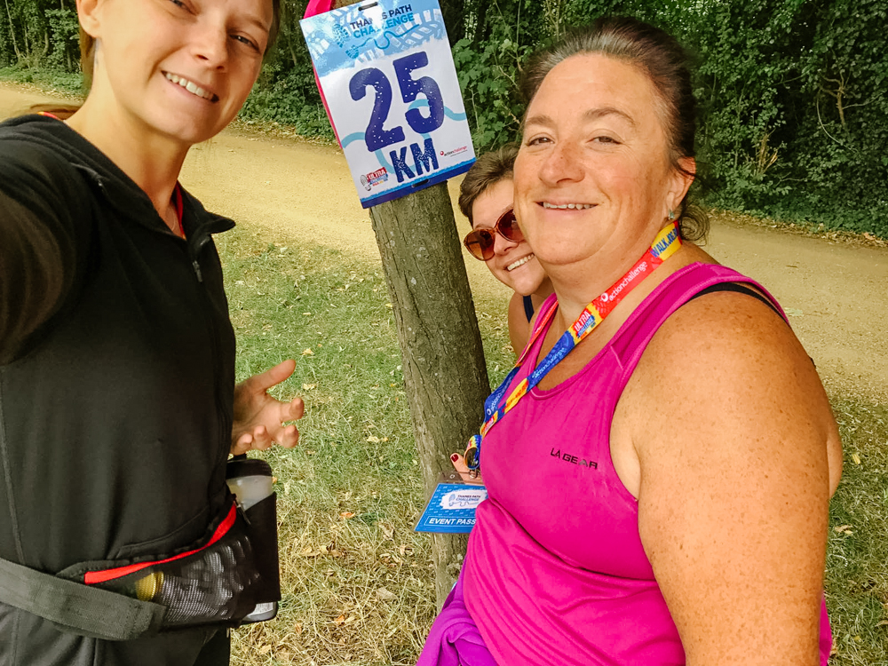 fundraising for independent care provider in Oxfordshire 25km mark