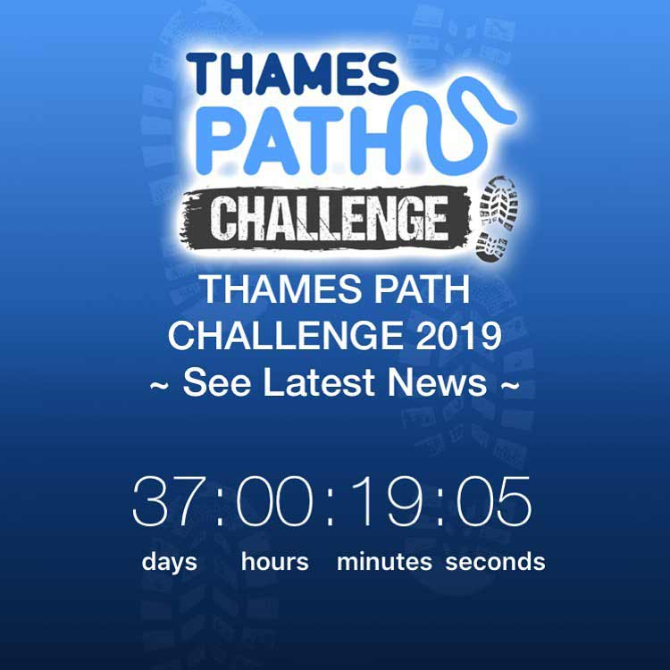 Not long to the fundraising Thames Path Challenge 2019